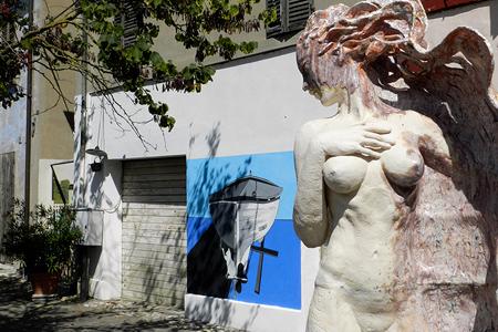 Borgata Vecchia, installazioni, Silvia Cesari, 2018