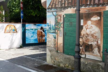 Borgata Vecchia, murales, Silvia Cesari, 2018