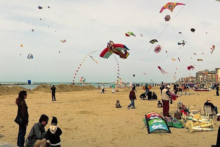 Aquiloni sulla spiaggia, Silvio Canini, 2002